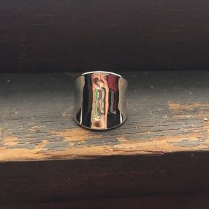 Concave silver ring